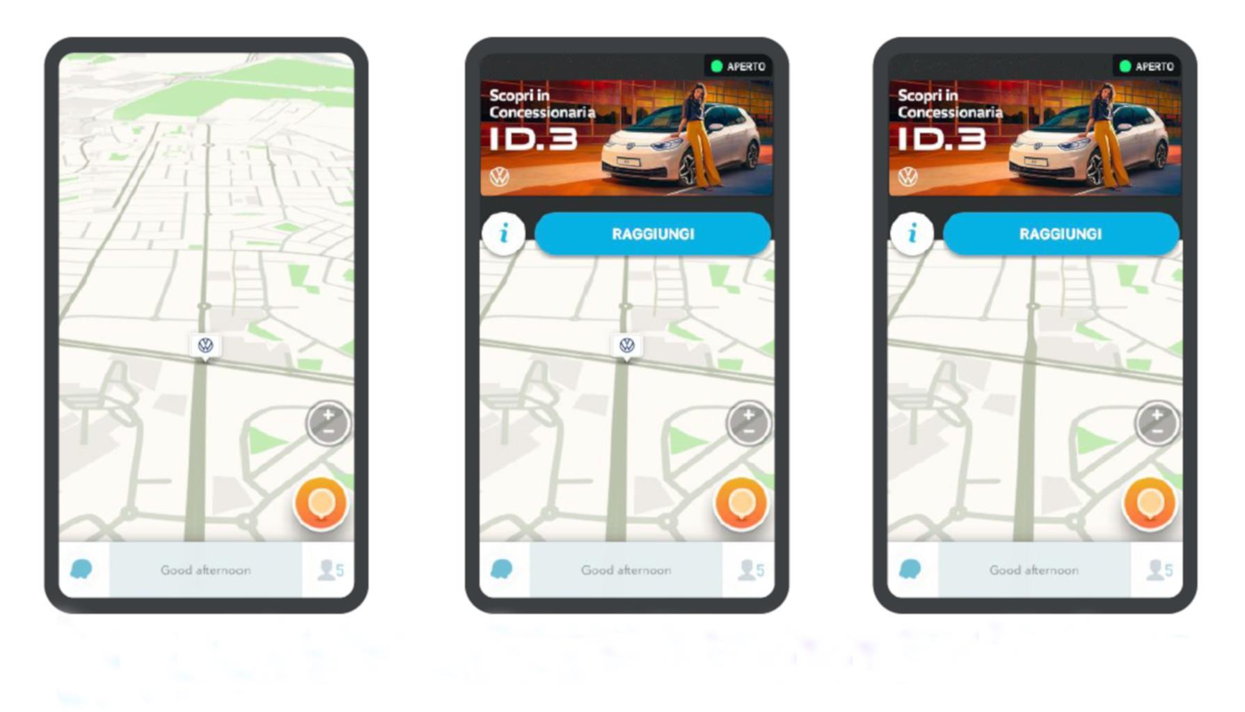 Il messaggio dedicato alla Volkswagen ID.3 su Waze (10/2020)